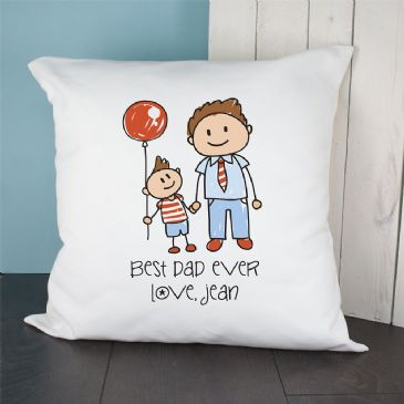 I Love My Dad Personalised Kid's Artwork Cushion Cover